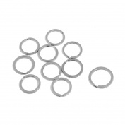 Unique BargainsSilver Tone Metal Split Ring Sundries Holder Key Chain Key Ring 10 Pcs