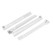 Unique Bargains Roller Wheel Kitchen Cabinet Drawer Keyboard 25cm Slide Glide Runner White Pair