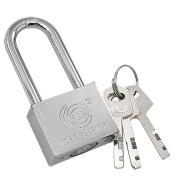 Silver Tone Polished Lock Top Security Door Padlock with key