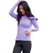Wawer Women Daily Sport O-neck Long Sleeve Quick Dry Thin Shirt Blouse Gym Yoga Fitness Top For All Seasons
