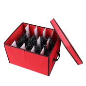 "Primode Xmas Light Box Organiser   Holiday Light Storage Box with Lid (15"" x 12"" x 10"")"