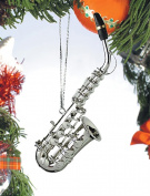 11cm Silver Saxophone Ornament