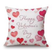 Pillow Cover, Jujunx Happy Valentine's Day Throw Pillow Case Sweet Love GiSquare ft Cushion Cover