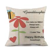 Sothread Valentine's Day Throw PillowCase Decor Linen Creative Cushion Cover Gift 46cm x 46cm