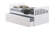 Broyhill Kids Marco Island Captain's Bed with Trundle Bed and Drawers, White