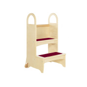 Guidecraft High Rise Step-Up Natural - Step Stool For Toddlers, Wood Constructed Quality Kids Furniture