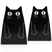 Tobson Cute Cat Heavy Duty Bookend Nonskid Bookends Art Decoration,A Pairs