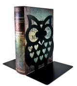 18cm Inches Tall - Owls Metal Bookends - BIG Cute Lightweight Baby Owls - Great Decor for Little Ones Nursery, Childrens Bedroom, Kids Playroom or Fun and Unique Owllover Gift
