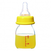 Fostly Glass Baby Bottle Slim Type Baby Fruit Juice Bottle Feeding Bottles For Infants Newborns and Toddlers 50 ml