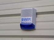 Dummy Alarm Bell Box - Dummy Burglar Alarm Box - Solar Powered - Flashing LED - Blue lens