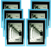 Studio 500, 20cm by 25cm from our Modern Collection, Colourful Sleek Blue with a Silver Accent Frames (EPF1313), 6-Pack