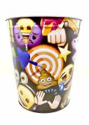 Emoji Wastebasket,Colourful Emoji's,Tin
