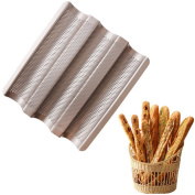 New Arrival Baguette French Bread Baking Tray Baguette Frame Rack Nonstick Carbon Steel Bread Baking Pans Kitchen Accessories