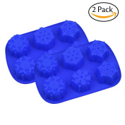 6 Even Snowflakes Silicone Cake Mould 2 Pack