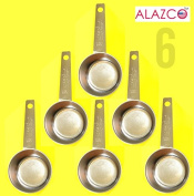 ALAZCO COFFEE MEASURING SCOOP 1/8 CUP Stainless Steel - Kitchen Baking Measure Spice Herbs Sugar Flour Cocoa Powder Salt