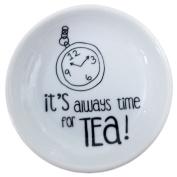Ceramic Tea Bag Holder Says Its Always Time For Tea