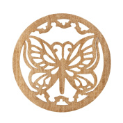 Natural Mango Wood Trivet Tea Pot Holder Heat Resistant Durable Handmade Kitchen Dining Table Accessories Dia 20cm Inches