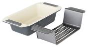 Viking 4040-3209-CGY Ceramic Nonstick Bakeware Meatloaf Pan w/Rack, 23cm