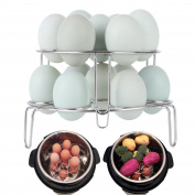 [IP BUNDLE] 2-Pack Egg Steamer Rack for Instant Pot Accessories / Stackable Steam Rack for Pressure Cooker Accessories