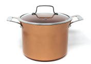 CONCORD 8l Copper Non Stick Stock Pot Casserole Coppe-Ramic Series Cookware