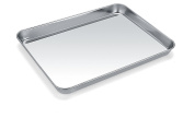 Baking Sheet, Zacfton Cookie Sheet Stainless Steel Toaster Oven Tray Pan Rectangle Size 9 x 18cm x 2.5cm , Non Toxic & Healthy,Superior Mirror Finish & Easy Clean, Dishwasher Safe