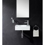 Fine Fixtures Ceramic 46cm Wall Mount Bathroom Sink