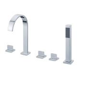 Sumerain International Group Triple Handle Deck Mount Tub Faucet with Handshower
