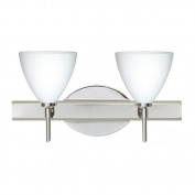 Besa Lighting 2SW-177907 Mia 2 Light Reversible Halogen Bathroom Vanity Light wi