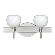 Besa Lighting 2SW-565819 Palla 2 Light Reversible Halogen Bathroom Vanity Light