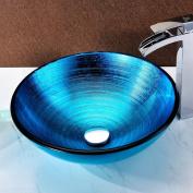 ANZZI Enti Glass Circular Vessel Bathroom Sink
