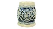 Cobalt Blue Ceramic Shot Beer Stein Germany Bayern Coat of Arms-6.4cm