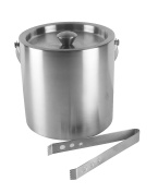 BarCraft Stainless Steel Ice Bucket with Tongs