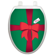 Toilet Tattoos Holiday Christmas Gift Box Toilet Seat Decal