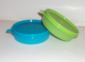 Tupperware Little Wonders Snack Bowls 180ml Aqua Blue and Lime Green