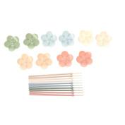 BetterM 10pcs Flower Shape Fruit Forks, Food ToothpickS Tableware Box Decor