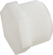 Anderson 53621-16 Hexagonal Pipe Plug, 2.5cm , MPT, Nylon/PVC