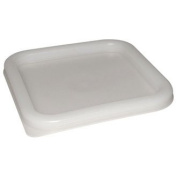 Vogue CF050 Lid to fit Square Containers, 5.5 L-7 L, White