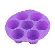 Selecto Bake - 7 Cup Large Silicone Bun/Muffin Mould - Non Stick Tray Baking