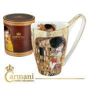 CARMANI - Big Porcelain Mug decorated with 'The Kiss' by Gustav Klimt 500ml