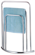 HIGH QUALITY CHROME FREE STANDING 3 BAR TOWEL RAIL BATHROOM RACK HOLDER FLOOR STAND