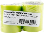 Lee Products Removable Highlighter Tape 2.5cm - 2.2cm x 1000cm 2/Pkg