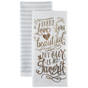 DII Cotton Dish Towels (Set of 2) Perfect Wedding, Housewarming Gift, 46cm x 70cm , Love Story, 2 Piece
