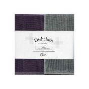 Nawrap Binchotan Dishcloth, Naturally Antibacterial, Purple X Charcoal