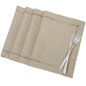 Handmade Hemstitched Polyester Rectangle Table Placemats