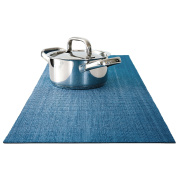 Trivetrunner :Decorative Trivet and Kitchen Table Runners Handles Heat Up to 300F, Anti Slip for Hot Dishes and Pots, Protect Furniture Countertops,Dressers and Island Protector (Blue Sky
