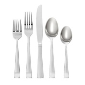 Oneida Avery 90 Piece Casual Flatware Set, 18/0 Stainless, Service for 12