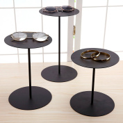Set of 3 Black Metal Retail Display Risers, Various Height Jewellery and Accessories Stand