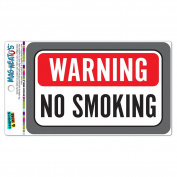 Graphics and More Warning No Smoking MAG-NEATO'S(TM) Vinyl Magnet Sign