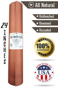 """Pink Butcher Kraft Paper Roll - 24 """" x 175' (2100"""") Peach Wrapping Paper for Beef Briskets - USA Made - All Natural FDA Approved Food Grade BBQ Meat Smoking Paper - Unbleached Unwaxed Uncoated Sheet"""