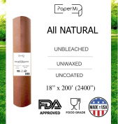 """All Natural, Kraft Pink Butcher Paper Roll - 18"""" x 200' (2400"""") USA Made Peach Wrapping Paper for Beef Briskets, BBQ Meat Smoking - FDA Approved Food Grade, Unbleached, Unwaxed, Uncoated Sheet"""